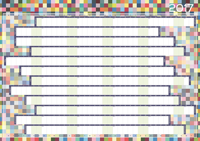 A1 Multisquares designer wallplanner 2017