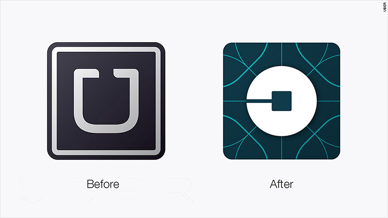 Uber re-design of logo for app