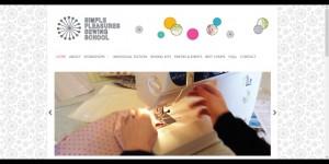 Simple Pleasures Sewing School home screen