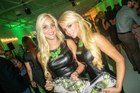 hornitos ladies serving tequila