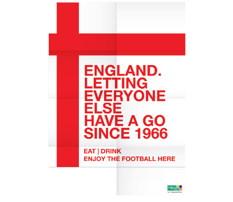 England Football Poster for MKG Foods