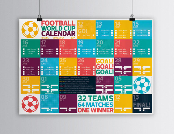 Sam Osborne world cup 2014 draw poster wall chart
