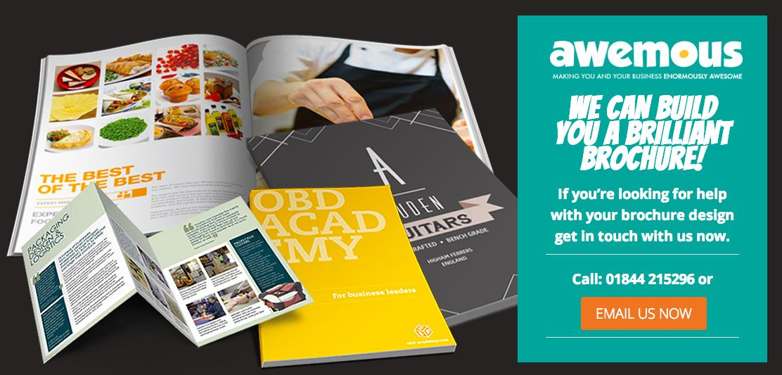 awemous can design you a brilliant brochure