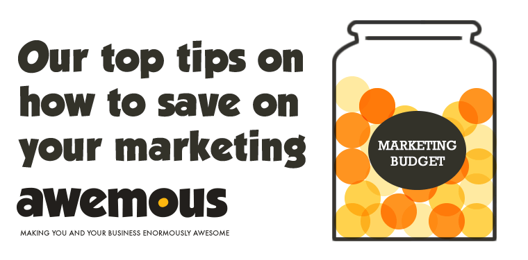 how to save on your marketing graphic