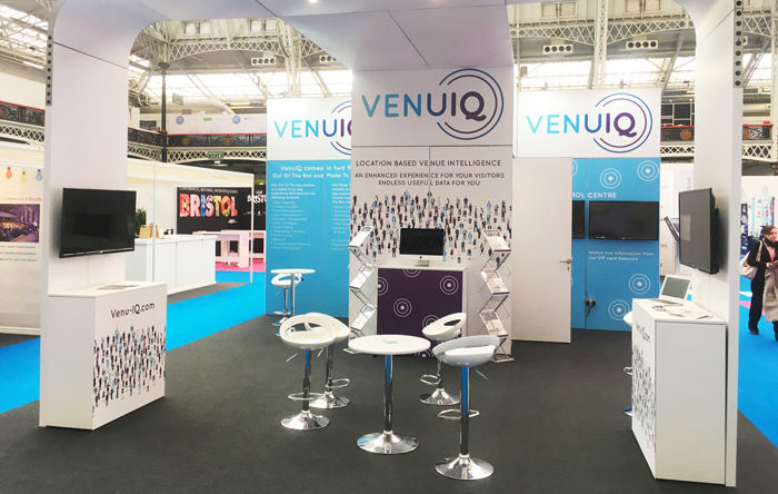 Event graphics and stand design for VenuIQ at Confex 2017