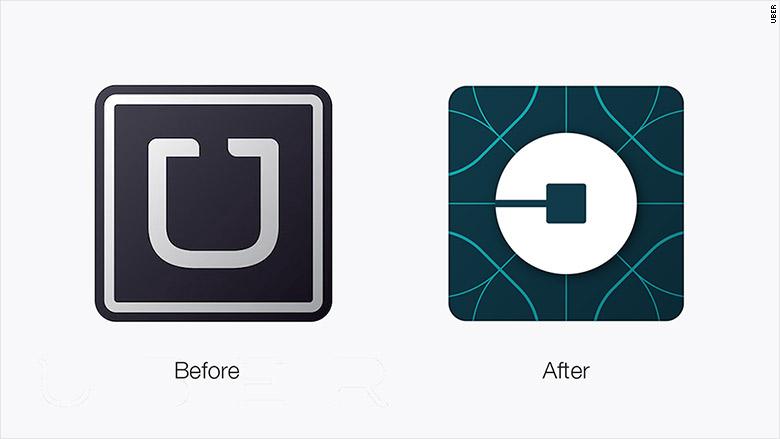Uber re-design of logo for app