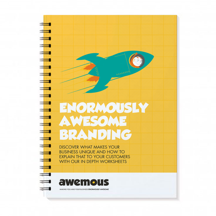 Enormously Awesome branding handbook by Awemous Marketing