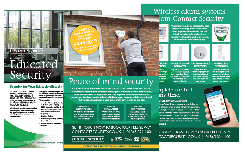 Contact Security leaflet images