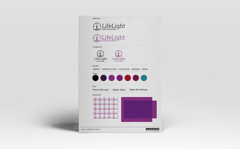 Life Light brand sheet