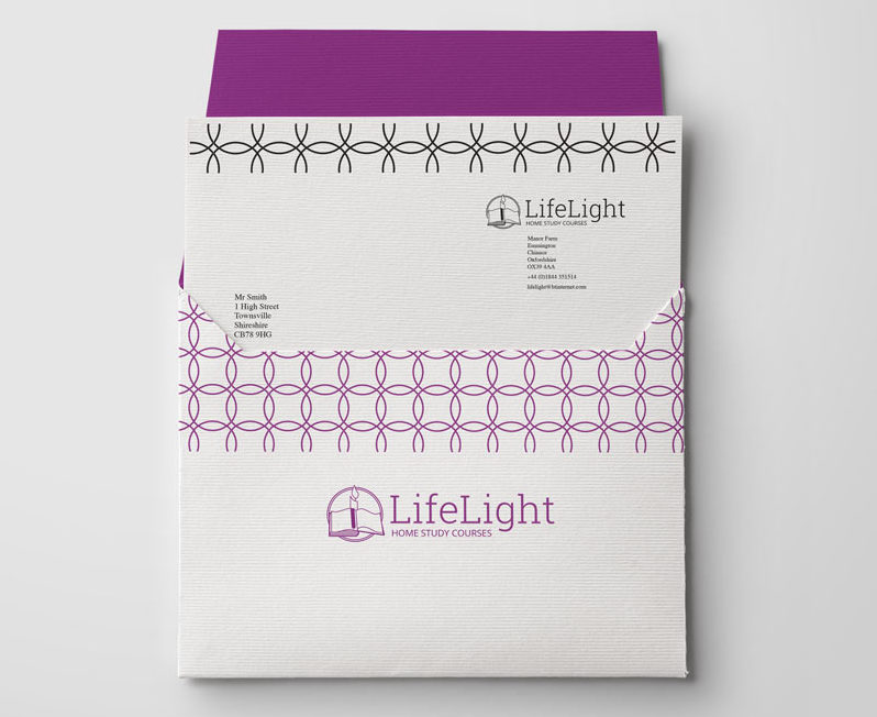 Life Light brand shown on envelopes and letterhead