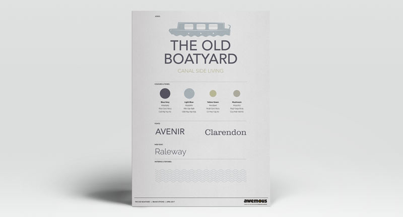 The Old Boatyard brand sheet